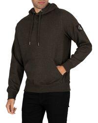 Calvin Klein Monogram Badge Pullover Hoodie - Black