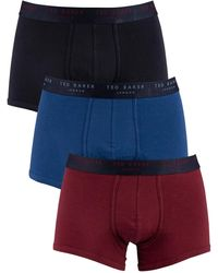 Ted Baker 3 Pack Fitted Trunks - Red