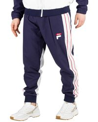 Saul Piped Track Sweatpants Blue