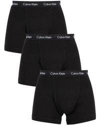 Calvin Klein 3 Pack Cotton Stretch Trunks - Black