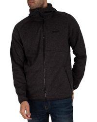 Regatta Ryedale Full Zip Hooded Marl Jacket - Black