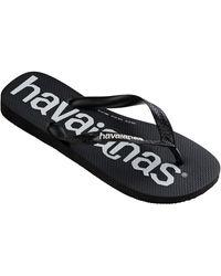 Havaianas Top Logo Mania Flip Flops - Black