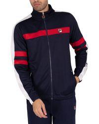 Fila Peridot Laid On Stripe Track Jacket - Blue