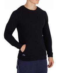 Lacoste - Night Blue Longsleeved Pyjama Top - Lyst