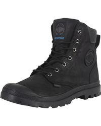 Palladium - Black/black Sport Cuff Wp Lux Boots - Lyst