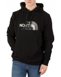 The North Face - Black/black Drew Peak Graphic Hoodie - Lyst
