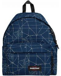 Eastpak - Cracked Blue Padded Pak'r Backpack - Lyst