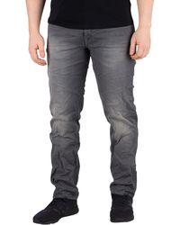 Jack & Jones Tim Slim Fit Indigo Knit Jeans - Gris