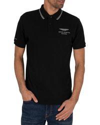 Hackett Amr Fine Tip Polo Shirt - Black