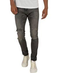 G-Star RAW 5620 3d Zip Knee Skinny Jeans - Black