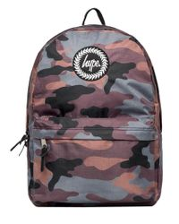 Hype - Camo/black Reversible Logo Backpack - Lyst