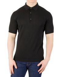 John Smedley Adrian Plain Polo Shirt - Black