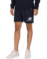 New Balance Essentials Stacked Logo Sweat Shorts - Blue