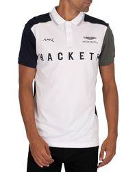 Hackett Amr Polo Shirt - White