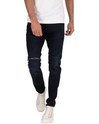 G-Star RAW 562 3d Zip Knee Skinny Jeans - Blue