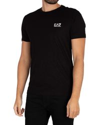 EA7 Chest Logo T-shirt - Black