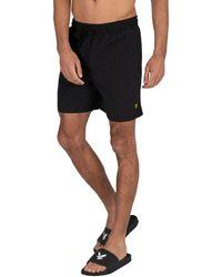 Lyle & Scott Plain Swim Shorts - Black