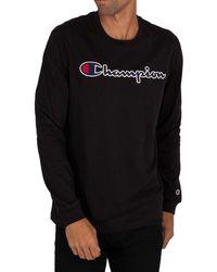 Champion Graphic Longsleeved T-shirt - Black