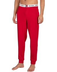 Tommy Hilfiger Branded Waistband Pyjama Bottoms - Red
