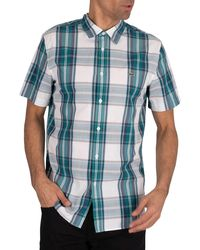 Lacoste Logo Check Shortsleeved Shirt - Green