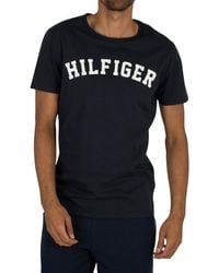 Tommy Hilfiger Arched Logo T-shirt - Blue