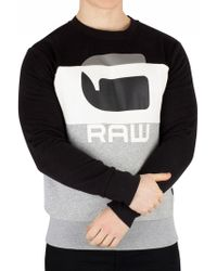 G-Star RAW Grey Heather Graphic 17 Core Sweatshirt - Gray