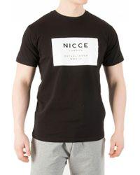 Nicce London - Black Raised Rubberised T-shirt - Lyst