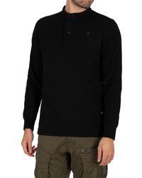 G-Star RAW Scan Collar Dry Jersey Longsleeved T-shirt - Black