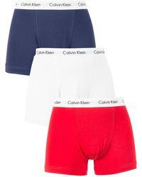 Calvin Klein 3 Pack Trunks - Red