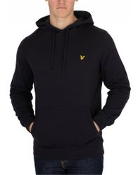 Lyle & Scott - True Black Pullover Hoodie - Lyst