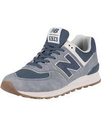 New Balance 574 Suede Sneakers - Blue