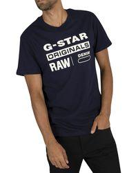 G-Star RAW Graphic T-shirt - Blue