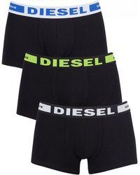 DIESEL - White/green/blue 3 Pack Kory Instant Looks Trunks - Lyst