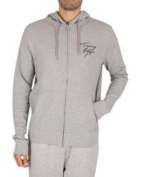Tommy Hilfiger Lounge Zip Hoodie - Grey