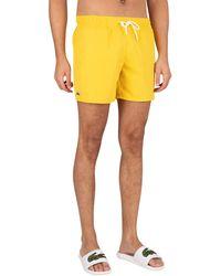 Lacoste Logo Swim Shorts - Yellow