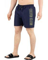 e5b7c43b4d Calvin Klein - Blue Shadow Medium Drawstring Swim Shorts - Lyst