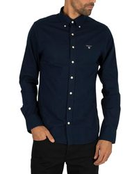 GANT The Broadcloth Slim Shirt - Blue