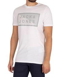Jack & Jones Core Shawn Graphic Slim T-shirt - White