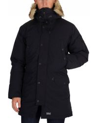 Levi's - Black Down Davidson Parka Jacket - Lyst