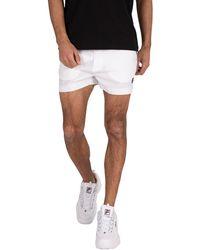 Fila Men's Hightide Terry Pocket Stripe Sweatshorts, White Men's Shorts In White