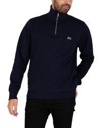 Lacoste Zip Collar Sweatshirt - Blue