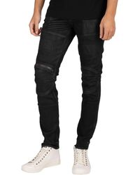 G-Star RAW 5620 3d Zip Knee Skinny Jeans - Black