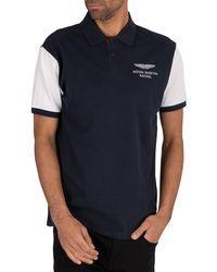 Hackett Amr Contrast Polo Shirt - Blue