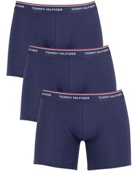 Tommy Hilfiger 3 Pack Premium Essentials Boxer Briefs - Blue