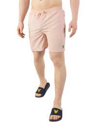 Lyle & Scott - Dusty Pink Plain Swim Shorts - Lyst