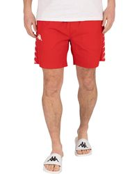Kappa 222 Banda Coney Swim Shorts - Red