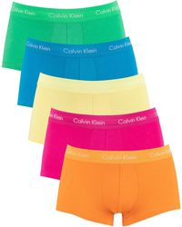 Calvin Klein 5 Pack The Pride Edit Low Rise Trunks - Multicolor
