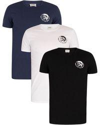 DIESEL 3 Pack Crew T-shirt - Black