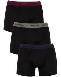 Calvin Klein 3 Pack Trunks - Multicolour