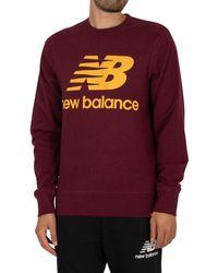 New Balance Essentials Stacked Logo Sweatshirt - Purple